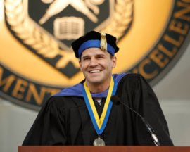David Boreanaz at 2013 Ithaca College Commencement