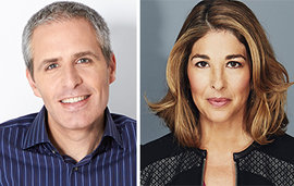David Sirota and Naomi Klein (Klein photo by Kourosh Keshiri) received the seventh Izzy Award at a ceremony on April 15, 2015; both honorees gave spee