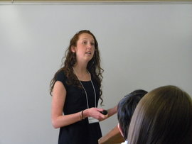 Delia Beck '10 at the Eastern Colleges Science Conference in April 2010
