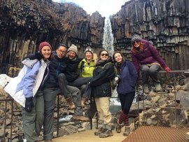 Denise O'Leary (3rd from right) with her CELL cohort in Iceland
