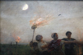 Detail from Jules Breton, The Feast of St. John, c.1875.