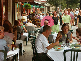 Dining on the Ithaca Commons