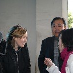 Director Laura Kissel with her collaborators in China