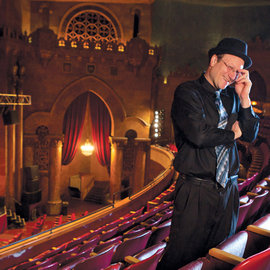 Doug Levine '98, M.B.A. '04 in the State Theatre in Ithaca