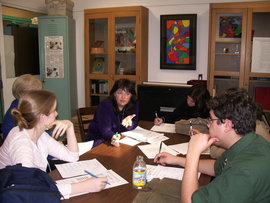 Each student teacher works with a faculty supervisor.