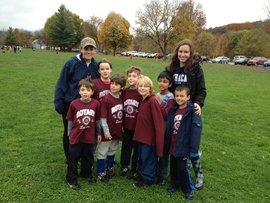 Emily LaPierre and a few of the kids she coaches