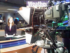 Emily LaPierre at News Channel 5 news desk