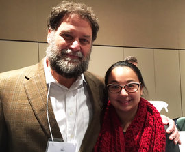 Emily Laino and Dr Bill Thomas at the SSANY Conference in October 2016