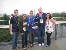 Erin Dunphy '13 (far right) in London at the 2012 Olympic Games