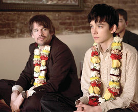 Ethan Hawke (left) plays Les, while Asa Butterfield plays Jude.