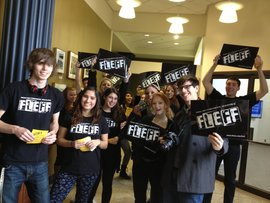 FLEFF Interns at the first flash mob!