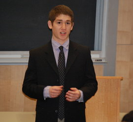 Fall 2011 Winner, Mark Vorensky, Delivers a Stong Message during the Finals