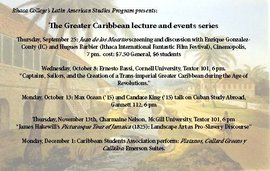 Fall 2014 Greater Carribean Lecture & Event Series