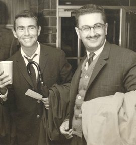 Founding Dean John Keshishoglou with Rod Serling