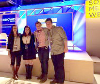Four IC students attend Social Media Week in New York City. Photo provided.