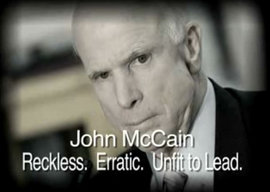 "Frame from Brave New PAC's ""A Fellow POW on John McCain,"" 2008"