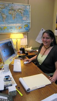 Gabrielle Montantez '08 interning at National Geographic (photo credit: Barbara Adams)