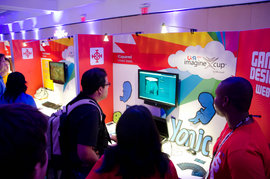 Game testing at the MS Imagine cup competition