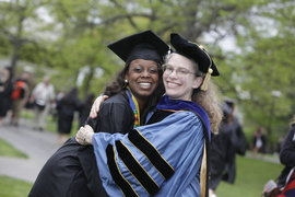 Glendenise McPherson & Leigh Ann Vaughn, 2013 Commencement