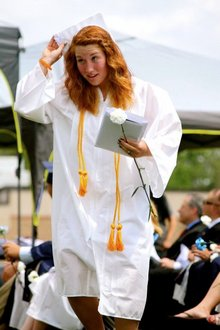 Graduating from Milford High School