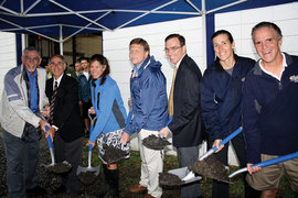 Groundbreaking ceremony for the Robert B. Tallman Rowing Center