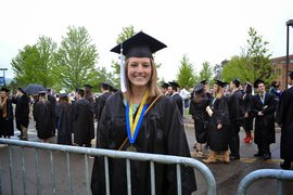 Haley Coleman '14 at IC graduation.