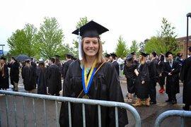 Haley Coleman '14 at IC graduation.