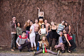 HiFashio Studios students posing in circus-themed fashions. Photo by Jessica Merrill '16