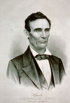 """Hon. Abraham Lincoln"" (Currier & Ives, 1860) (Library of Congress Prints and Photographs Division, reproduction number LC-USZC62-2594)"