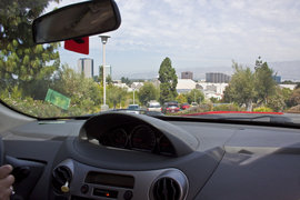 How To Live In LA, driving out of the Oakwood Apartments