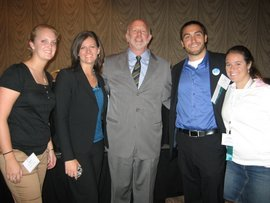 IC PT students (K. McKechnie, J. Miller, S. Hamman, L. Johnston with APTA Pres. Scott Ward) at 2008 APTA Student Conclave