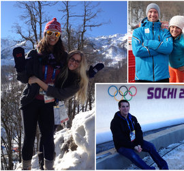 IC Students on location in Sochi for the 2014 Winter Olympics