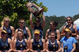 IC Women's Crew Team accept their trophy