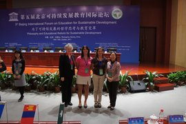 IC delegation at International Forum on Education for Sustainable Development in Beijing