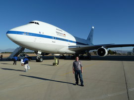 IC graduate Casey Byrne just before his flight on SOFIA (photo courtesy of George Gull).