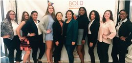 IC's first cohort of BOLD scholars traveled to a summit in October to meet with BOLD scholars from five other institutions. Photo submitted.