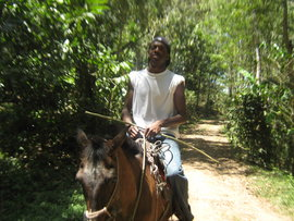I'm riding a horse in Nicaragua