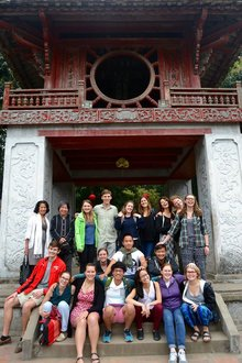Image of Kaitlin with her study abroad program in Vietnam