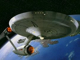 Image of the starship Enterprise from the Star Trek series.