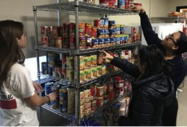 Individuals using the food pantry