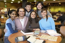 International students in IC Square