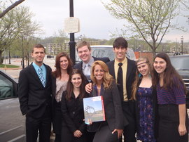 Ithaca College Chapter of the American Mock Trial Association just before competing in Nationals.