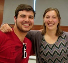 Ithaca College Student United Way leaders Moriah Petty �14 and Dominick Recckio �16 helped the organization earn national recognition.