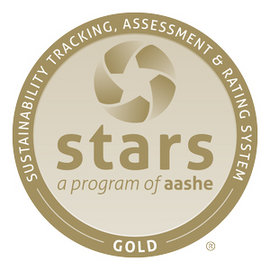 Ithaca College has achieved a gold STARS rating for the second time.