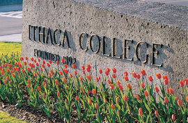 Ithaca College main entrance
