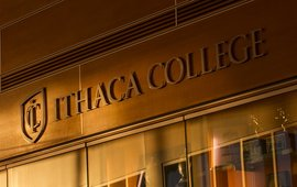 Ithaca College sign