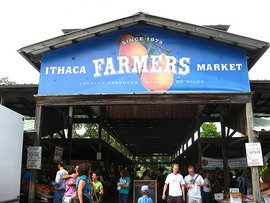 Ithaca Farmers Market Welcome Sign