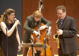 Ithaca Jazz Quartet members Catherine Gale, Nicholas Walker and Mike Titlebaum