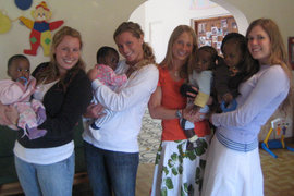 Ithaca Students at the Ministry of Hope Crisis Nursery in Malawi (May 2010)