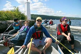 Ithaca's Outdoor Adventure Learning Community enjoys an outing on Cayuga Lake
